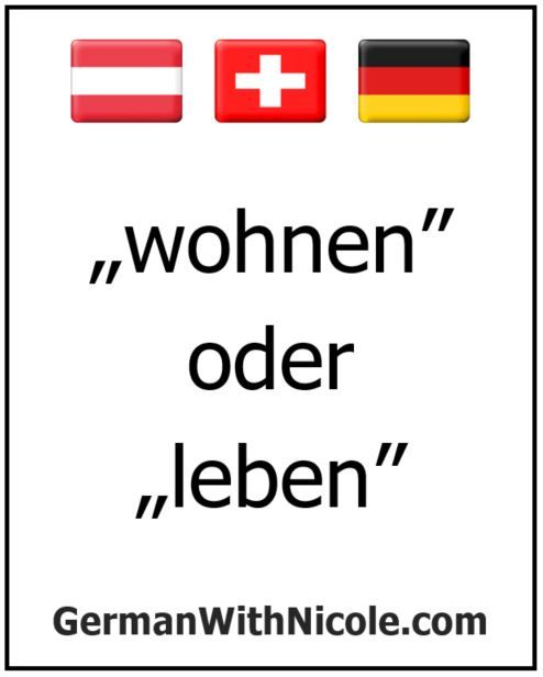 Wohnen Vs Leben With Images Learn German Learn German Online Teaching Ela