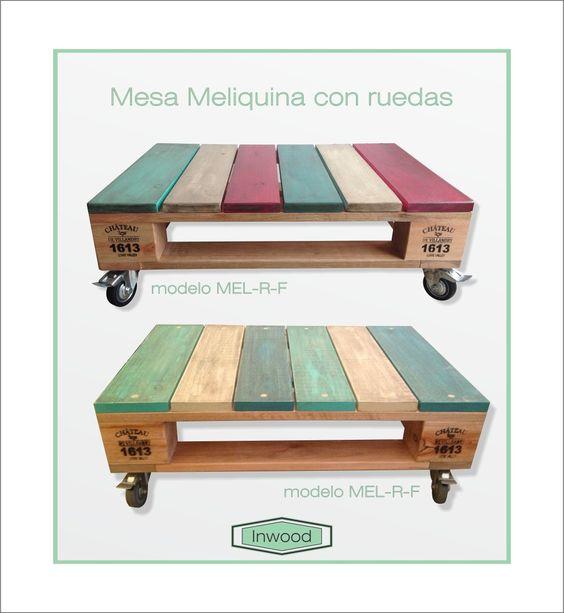 Mesa Ratona Living Estar Tipo Pallet Diseño Vintage - $ 1.750,00 en MercadoLibre