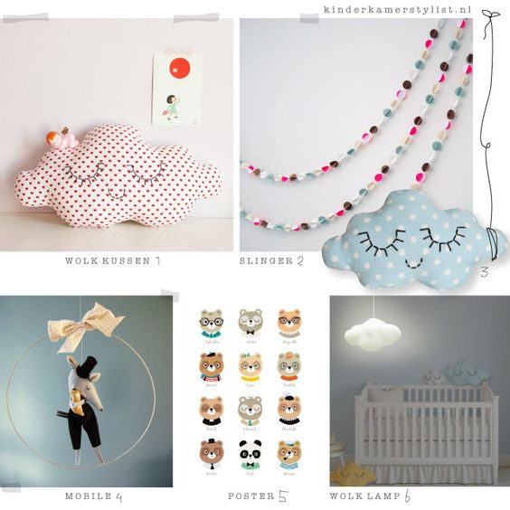 Franse kinderkamer decoratie  DIY & Crafts  Pinterest  Lamps, Cloud ...