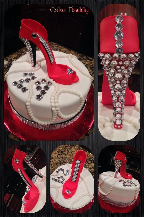 Red Stiletto With Bling Cake Custom Cakes By Cake Daddy