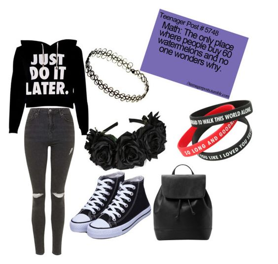 """""""Teenager look"""" by n-butterfly on Polyvore featuring Topshop and MANGO"""