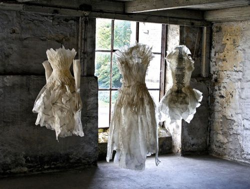Paper clothes   Love the setting lovely installation