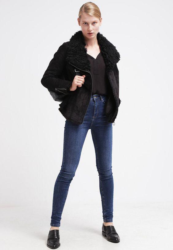 ¡Cómpralo ya!. Jofama MIRANDA Chaqueta de cuero black.  , chaquetadecuero, polipiel, biker, ante, anteflecos, pielflecos, polipielflecos, antelina, chupa, decuero, leather, suede, suedette, fauxleather, tassel. Chaqueta de cuero  de mujer color negro de Jofama.