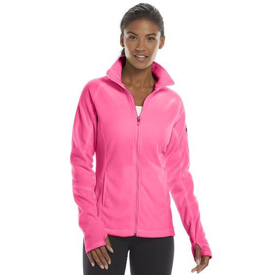 Women's Tek Gear® Microfleece Mockneck Workout Jacket