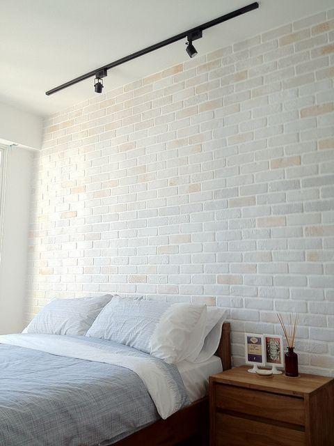 Image Result For Whitewashed Brick Bedroom Tile Bedroom Track Lighting Bedroom Bedroom Wall Designs