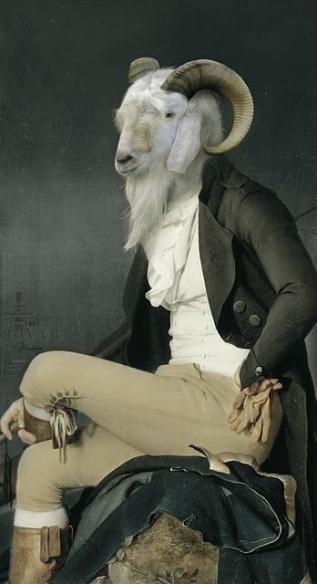 """So this is what you were talking about when you called someone """"an old goat""""."""