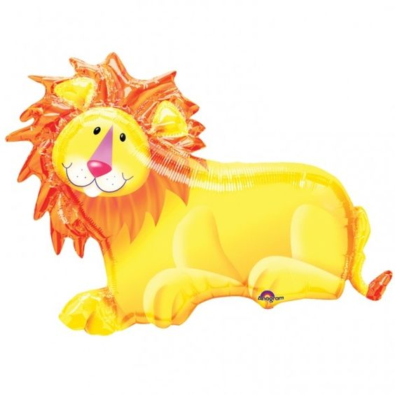 Cachao Toy Cafe - Jumbo & SuperShapes - Jungle Party Lion 89x64cm