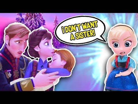 Frozen 2 Toys Little Elsa Meets Baby Anna For The First Time Frozen Toy Transformations Youtube Frozen Toys Baby Girl Toys Disney Princess Art