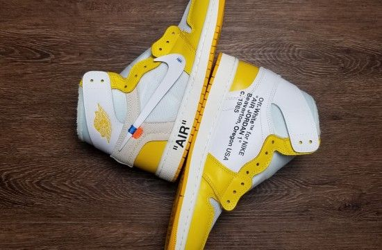 Off White X Air Jordan 1 Canary Yellow With Images