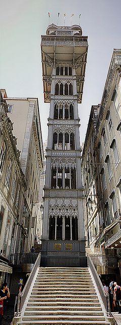 Elevador da St.Justa Lisbon, PORTUGAL (designed by Gustave Eiffel)