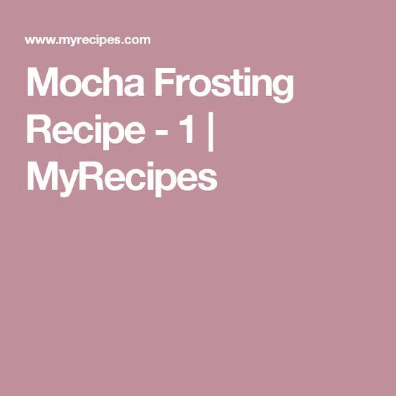 Mocha Frosting Recipe - 1   MyRecipes