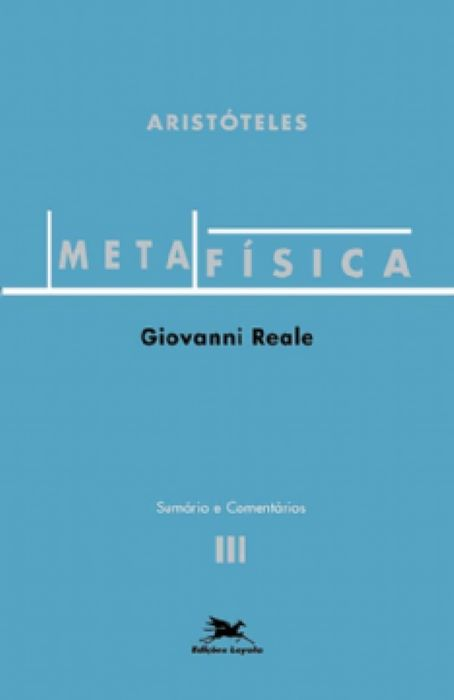 Metafísica de Aristóteles - vol. III