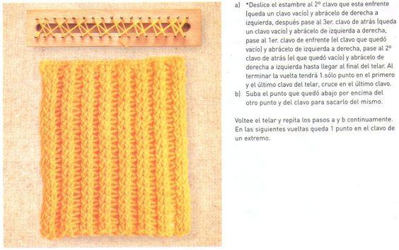 Knitting In Spanish Instructions : Telar rectangular puntadas maya y ponchos