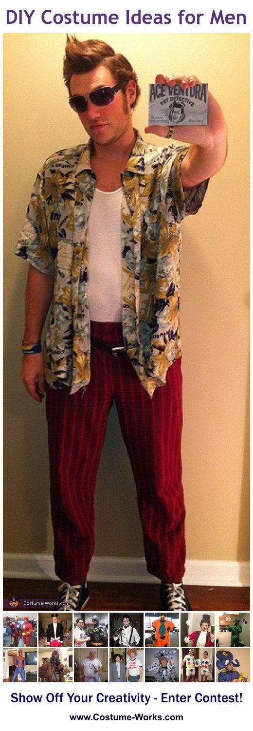 Homemade Costumes for Men Homemade Ace ventura pet - Simple Halloween Costumes For Guys