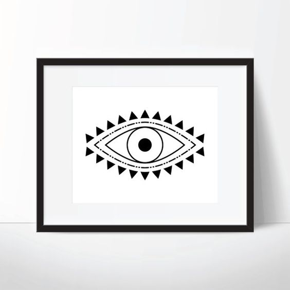 Evil Eye Print @wallthreads