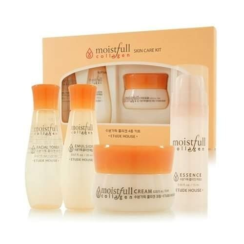 Product Name Moistfull Colagen Skin Care Kit 4 Items Trial Kit Price 400 00 Swipe Left Etude House Moistfull Collagen Skin Care Kit Moistfull Collagen