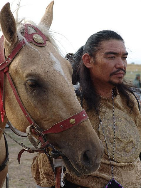 Kyrgyzstan horseman.  Presumably pretty much what Ghengis Khan would have looked like.: