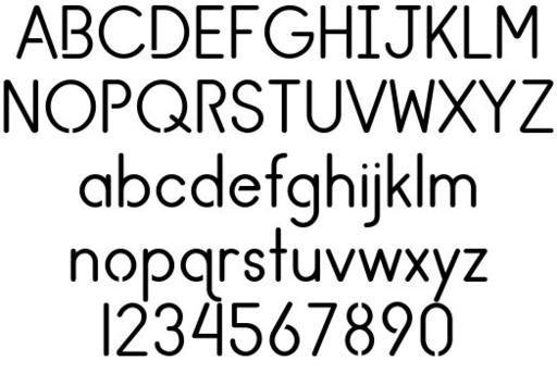 Clean And True Cnc Font Fonts Cnc Dxf