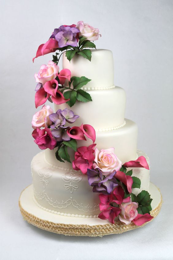 wedding cake silk flowers decorations traditional wedding cake with artificial flower decor my 24546