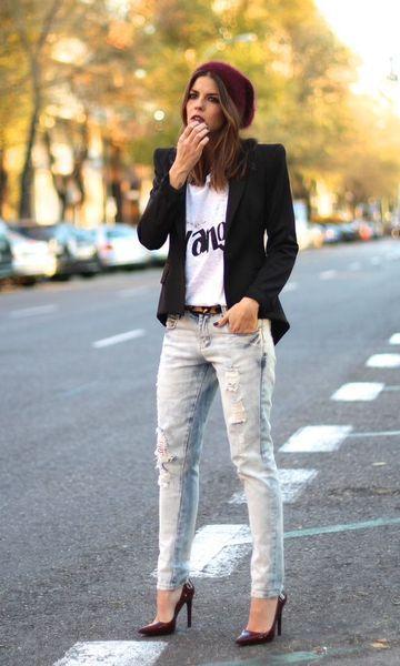 Look: Blazer + Skinny