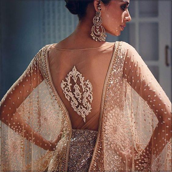 Bridal lehenga encrusted with crystals! Love this idea by Tarun Tahiliani. Indian Bridal fashion. Crystal Constellation - Couture by @Tarun_Tahiliani