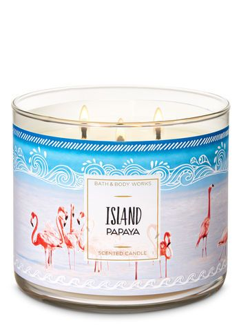 Island Papaya Candle : island, papaya, candle, Island, Papaya, 3-Wick, Candle, Works, Candles,, Works,