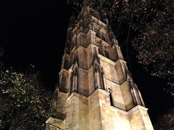 Подсветка вечером башни