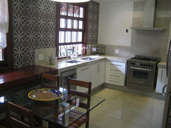 [119] Cozinha em Granito Branco Itaúnas