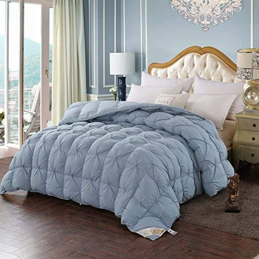 Rfghj Down Comforters Selected White Goose Down Cotton Satin Soft Texture Duvet Insert Or Stand Alone Comf Down Comforters Bed Comforters Cool Comforters