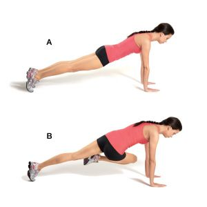 The oblique twist - thanks Jillian!  I go to bed every night with aching abs...