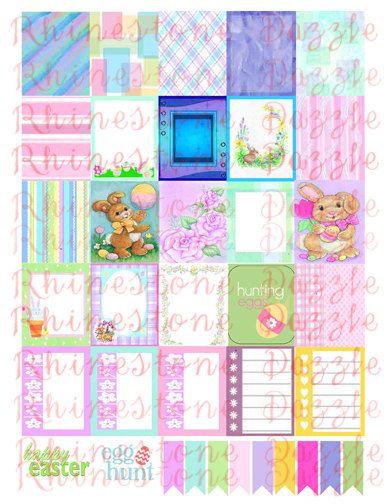 Easter Digital Planner Stickers 2, Printable Planner Stickers ...