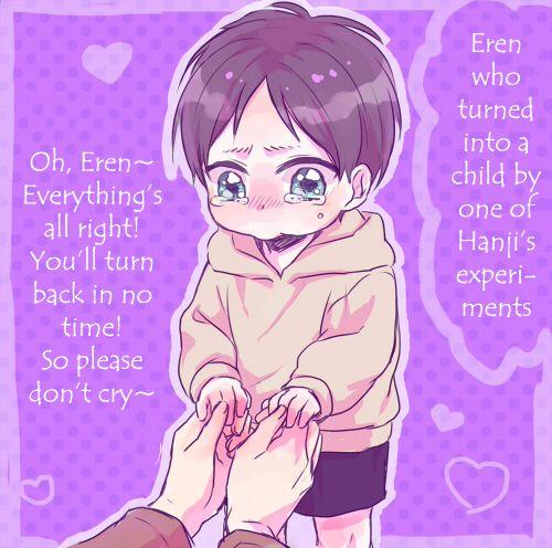 Little Eren, Mikasa, Armin, Levi, And