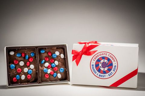 Birthplace Bark from Candidate Candy :: Chocolate Bark :: Red White and Blue Candy :: USA Candy :: Patriotic Candy :: Almond Bark