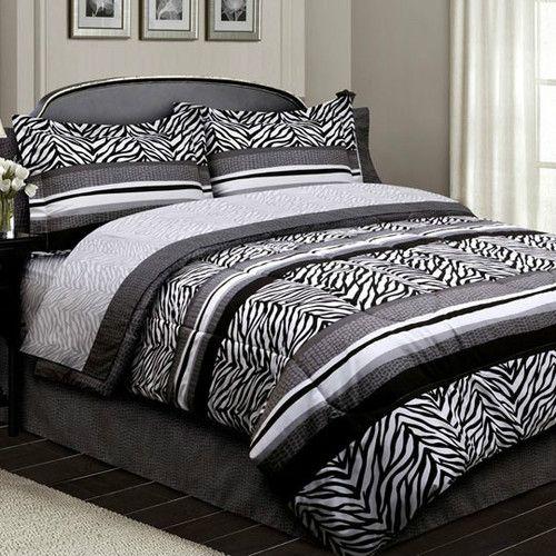 Grey Bedroom Boys Zebra Print Bedroom Ideas For Adults Bedroom Ceiling Soffit Bedroom Decor Gray: Details About #AL Bed In A Bag Comforter Bedding Set