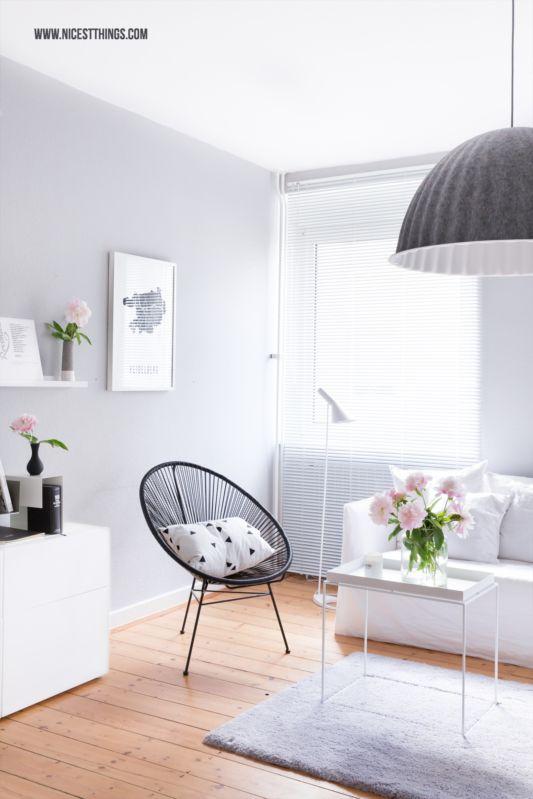 DIY Wolkengarderobe im Flur \ neue Aufbewahrungslösungen - wohnzimmer grau beige weiss