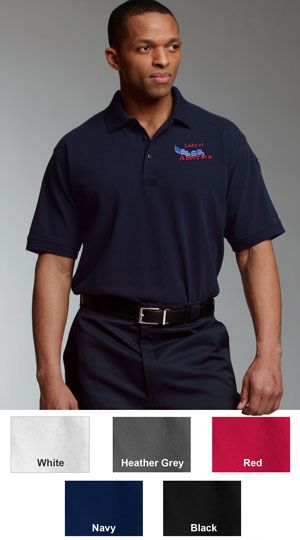 Charles River Men's Allegiance Embroidered Construction Polos with Logo $30.95
