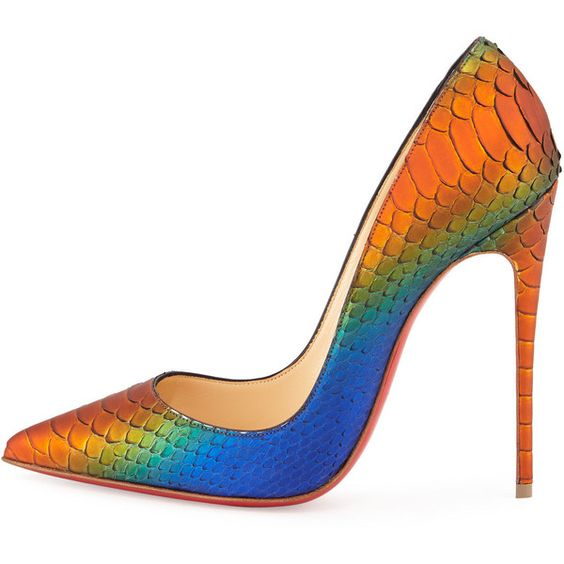 christian louboutin man shoes - Christian Louboutin So Kate Python 120mm Red Sole Pump ($1,395 ...