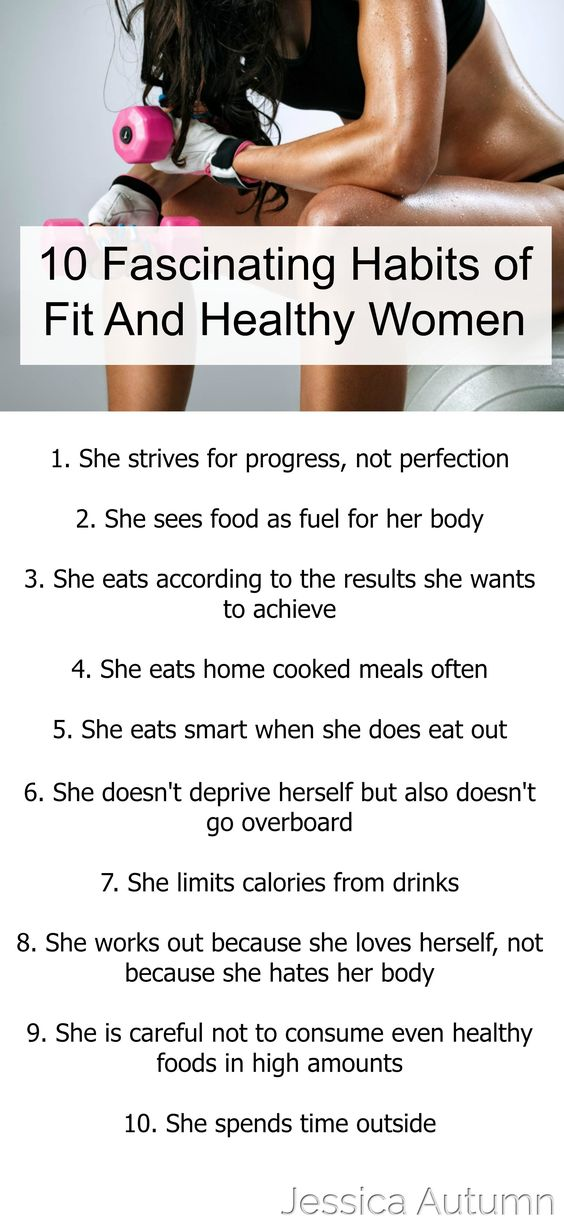 Habits Of Fit And Healthy Women