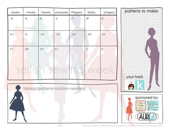 free printable: selfish sewing week planner || imagine gnats