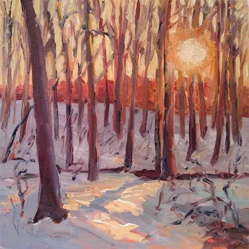 """Winter Woods II"" - Original Fine Art for Sale - � Claudia L Brookes"
