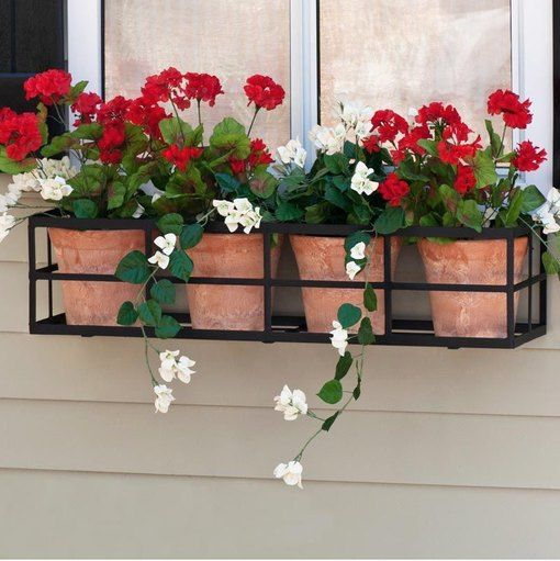 7 Window Flower Box Ideas That Will Have You Smelling The Roses Hunker In 2020 Window Box Flowers Wrought Iron Window Boxes Metal Window Boxes
