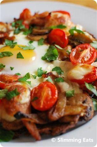Breakfast Hash Brown Pizza | Slimming Eats - Slimming World Recipes
