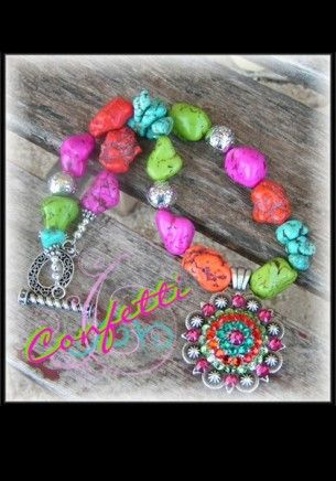 Confetti : Chunky Cowgirl Necklace... so colorful!