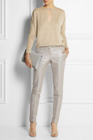 Metallic skinny pants. Kaufmanfranco