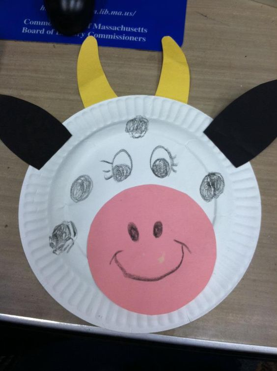 paper plate craft ideas for preschool cow farm crafts and preschool farm on 7865