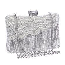 Mulheres mensageiro Tassel pedrinhas frisada Evening Bags cadeia ombro bolsas dia embreagens bolsas sacos(China (Mainland))