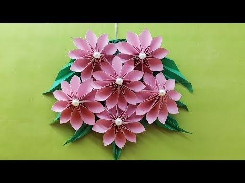 Origami Easy Paper Flower Paper Flower Wall Hanging Diy