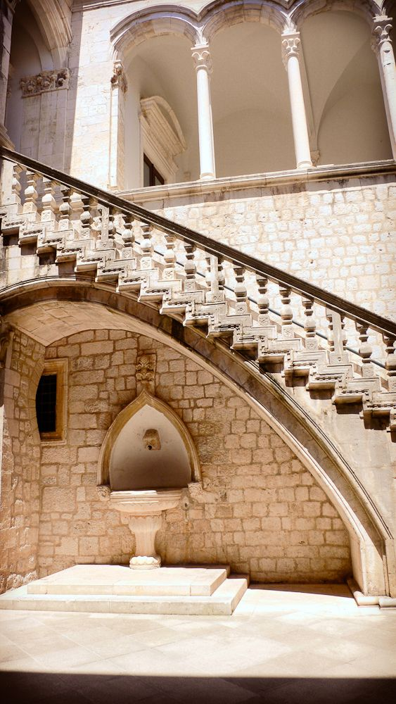 views of the #Rectors #Palace and #Domincan #Monastery in  #Dubrovnik