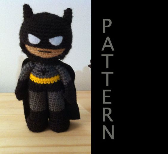Free Amigurumi Batman Pattern : Batman Amigurumi Pattern by 53Stitches on Etsy. Definitely ...