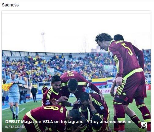 """Y hoy amanecimos mas orgullosos que nunca. Felicidades a nuestra seleccion #Vinotinto por ese gran triunfo frente a #Colombia Gracias ⚽ """"Si tu no te rindes yo no me rindo, Estamos contigo #Vinotinto"""" #Orgullo #venezuela #CopaAmerica2015 #chile #GrupoC #futbol #Gol #animo #Sisepuede #Exito #emocion #grande #YoLeVoyAMiVinotinto https://instagram.com/p/39EXL0GW1B/ https://www.facebook.com/isabel.aldana.142"""